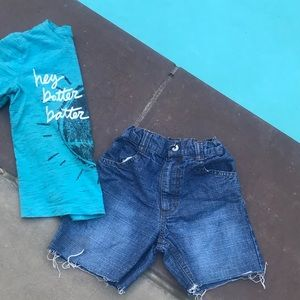 Calvin Klein denim jean shorts cutoff blue